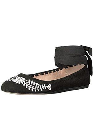 Via Spiga Women's V-Baylie 2 Ballet Flat, Black Suede