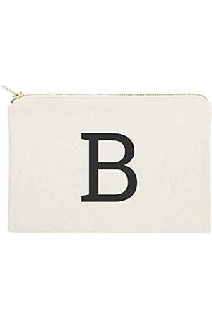 The Cotton & Canvas Co. Personalisierte moderne Monogramm-Kosmetiktasche und Reise-Make-up-Tasche