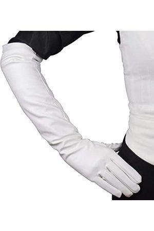 DooWay Lange Handschuhe für Damen, Kunstleder, über Ellenbogen, Länge 50,8 cm, PU-Leder, Winter, warm