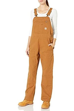 Carhartt Womens Crawford Double Front Bib Overalls, Brown