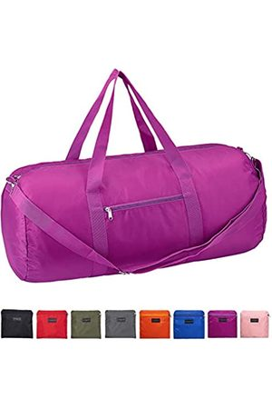 Vorspack Duffel Bag 24 Inches Foldable Lightweight Gym Bag with Inner Pocket for Travel Sports - Purple