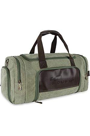 Charaland Reisetasche Reisetasche Weekender Bag für Damen und Herren Leder Canvas Übernachtung Carry on Bag Turnbeutel mit Schuhfach