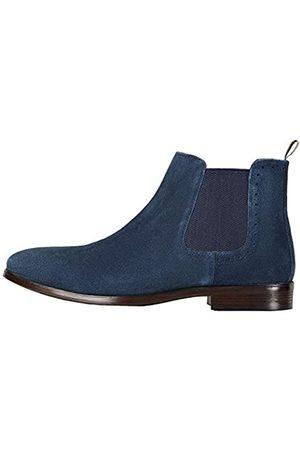 FIND Amazon-Marke: Marin Chelsea Boots, Blau (Navy (Suede)