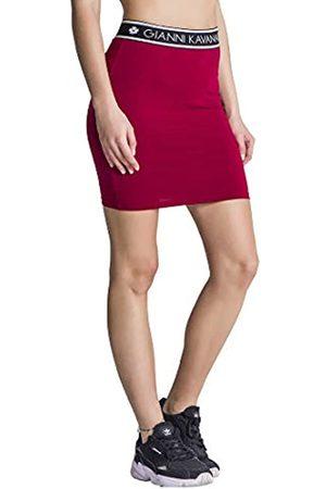 Gianni Kavanagh Damen Burgundy Tube Skirt with Gk Elastic Rock