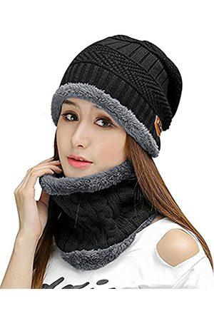 HINDAWI Damen-Wintermütze, gestrickt, warm
