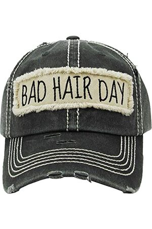 Funky Junque Distressed Baseball Cap Vintage Dad Hat - Bad Hair Day Patch