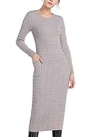 Apart Damen Knitted Cabel Dress LässigesKleid