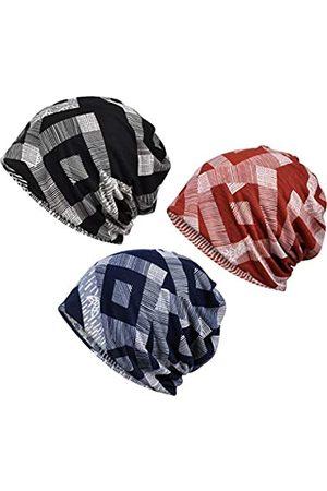 Yuzemumu Beanies Chemo-Mütze, Krebs-Kopfbedeckung, Totenkopf-Mütze, Strickmütze