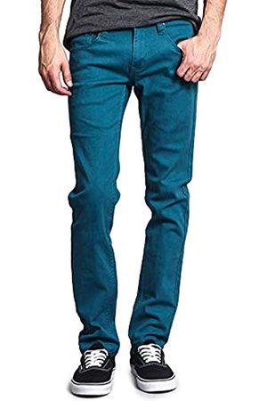 VICTORIOUS Herren Skinny Fit Color Stretch Jeans - Blau - 32W / 30L