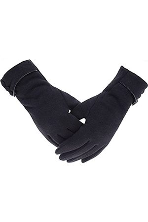 Woogwin Damen Winter Warme Handschuhe Touchscreen Handy Winddicht Gefüttert Dicke Handschuhe - - Einheitsgröße
