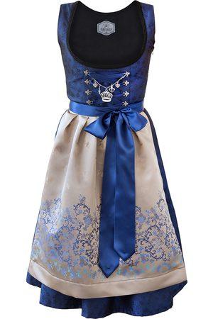 Edelnice Damen Dirndl - Midi Dirndl 2-teilig royalblau