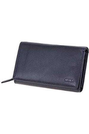 MIKA Damen Slips - 42166 - Damengeldbörse aus Echt Leder, Portemonnaie im Querformat, Geldbeutel mit 12 + 4 Kartenfächer, Netzfach, Scheinfach und doppeltes Münzfach, Brieftasche in, ca. 15 x 10,5 x 4