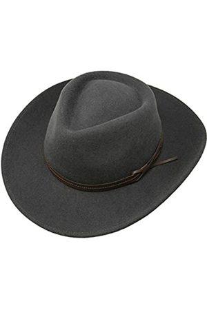 Borges & Scott Hardy - Leichter Fedora Hut mit breiter Krempe und Lederband - 100% Wollfilz - Für die Reise knautschbar - Wasserabweisend - 56cm