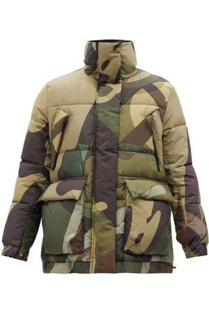 Sacai X Kaws Camouflage-print Padded Jacket