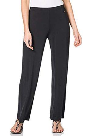 Emporio Armani Underwear Womens Loose Fit Pants Fluid Viscose Sweatpants, Black