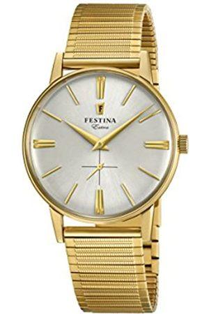 Festina Herren Analog Quarz Uhr mit Edelstahl Armband F20251/1