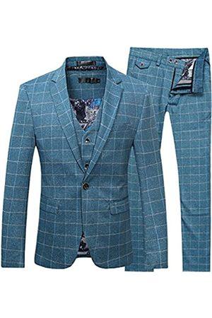 Cloudstyle Herren 3-teiliges Anzug-Set, moderne Passform, Jacke, Smoker, Weste