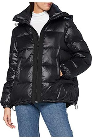 Mavi Damen Hooded Jacket Jacke, Black