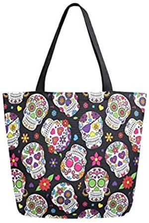 AUUXVA Canvas Tote Bag Blume Sonnenblume Frauen Casual Schulter Einkaufstasche