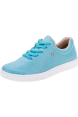 VIA MARTE Lässiger Damen-Sneaker, Schnürer, atmungsaktiv, Gehcomfort, Blau (königsblau)