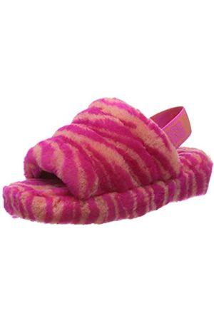 UGG Damen W Fluff Yeah Slide Zebra Hausschuhe