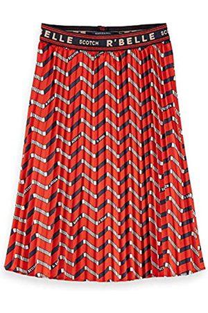 Scotch&Soda R´Belle Girls Plisse with Zig zag Allover Print Skirt