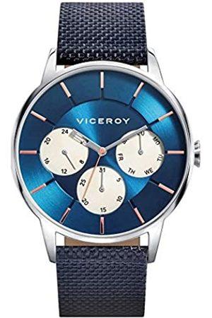 Viceroy Herren Multi Zifferblatt Quarz Smart Watch Armbanduhr mit Nylon Armband 471143-37
