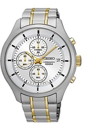 Lorus Unisex Erwachsene Chronograph Quarz Uhr mit Edelstahl Armband SKS541P1