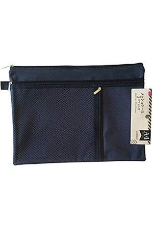 Secret for Longevity Große 25,4 x 35,6 cm wasserdichte Tasche mit 3 Reißverschlüssen für Bargeld, Kreditkarten, Make-up, Kosmetik, Elektronik, Camping