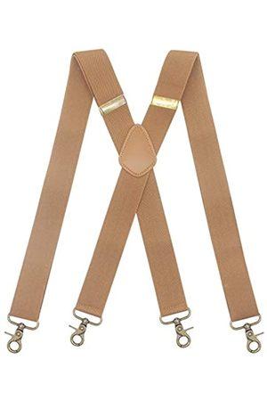Timiot Herren Hosenträger mit 4 drehbaren starken Haken, verstellbare Hosenträger, elastisch, bequem, X-Stil