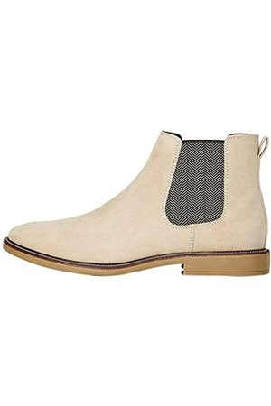 FIND Marsh Herren Chelsea Boots Stiefel, (Sand Suede Look)