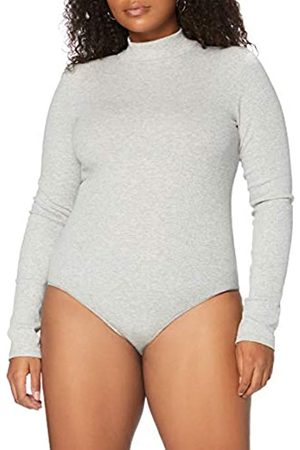 MERAKI Amazon-Marke: Damen Body aus Baumwolle, Grau (Light Grey Marl), XS