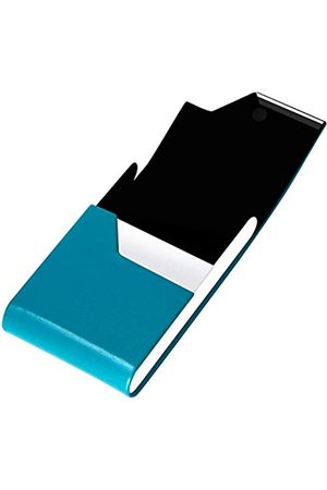 padike Professioneller Visitenkartenhalter Visitenkartenetui Luxus PU Leder & Edelstahl Kartenhalter Kreditkartenetui Halten Visitenkarten in makellosem Zustand (V-Blue Green)