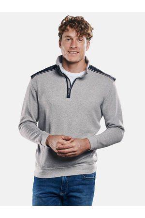 ENGBERS Herren Sweatshirts - Herren Sportives Sweatshirt mit Stehbund regular uni Stehkragen
