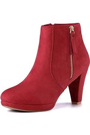 Allegra K Damen Reißverschluss Trichterabsatz Halloween Ankle Boots Stiefel 41