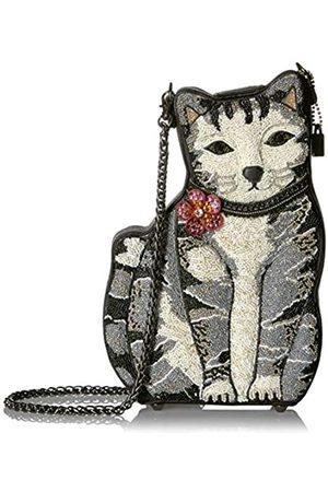 MARY FRANCES 9 Lives Handtasche mit Perlen, Katzenmotiv, (multi)