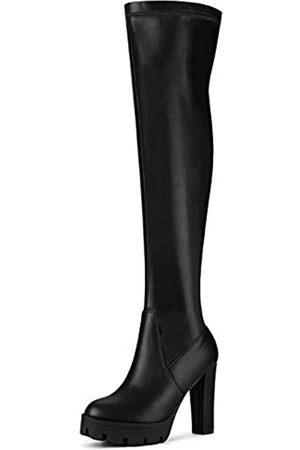 Allegra K Damen Plateau Heels Chunky Heel Overknee Hohe Stiefel
