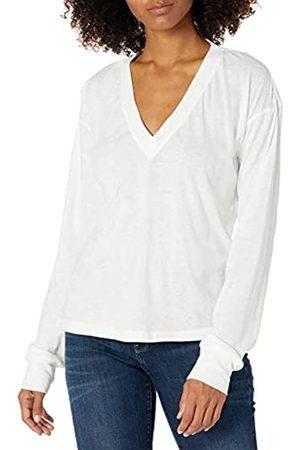 Nialaya Women's Casual Deep V Neck Long Sleeve Tee Shirt