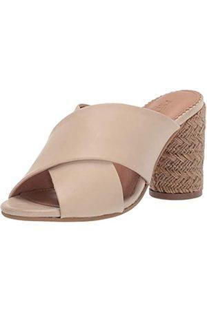 Crevo Damen Sandalen mit Absatz, Weiá (knochenfarben)