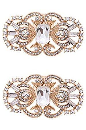 MLAVXCC 2 Retro-Schuh-Clips, antikes Masken-Design, Strasssteine, für Hochzeit, Party, Schuhe, Dekoration