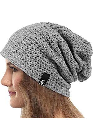 VECRY Damen Strickmütze Slouchy Beanie gerippt Baggy Skull Cap Turban Winter Sommer Baskenmütze - - Medium