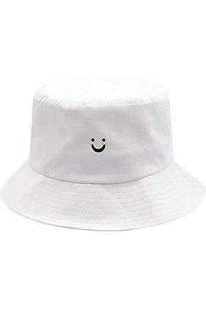 HSYZZY Fischerhut mit lächelndem Gesicht, 100 % Baumwolle, für Reisen, Strand, Sonnenhut für Männer, Frauen