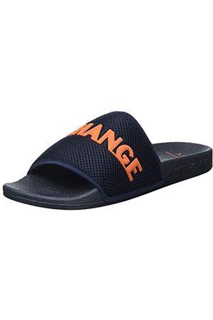 Armani Herren Mykonos Pool Slide Sandal, Indigo+