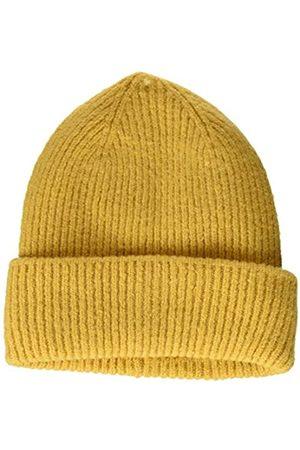 TOM TAILOR Damen RIPP Beanie-Mütze, 24674-Indienn Spice Yellow