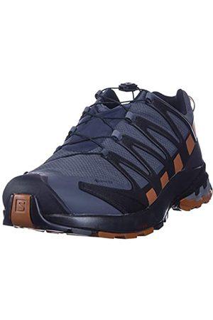 Salomon Herren XA PRO 3D V8 GTX, Leichte Schuhe für Trail Running und Wandern, Wasserdicht, (Ebony/Caramel Cafe/Black)