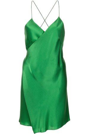 Michelle Mason Gewickeltes Minikleid aus Satin