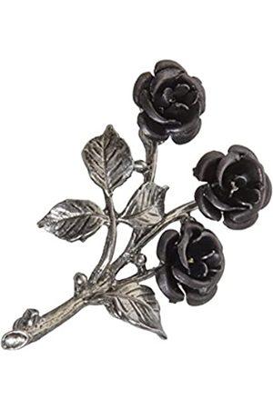 Schnabel Damen-Brosche Rosenschmuck - Rose 037 schwarz