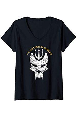 Navy London Damen Seals Original bravo team Proud seal team gift T-Shirt mit V-Ausschnitt