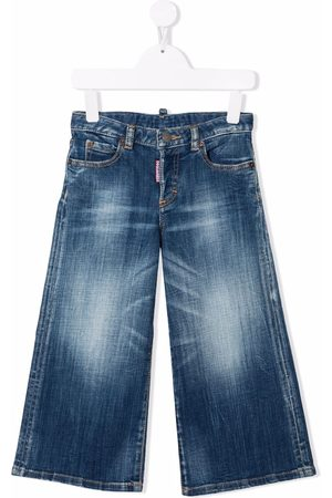 Dsquared2 Kids Halbhohe Wide-Leg-Jeans