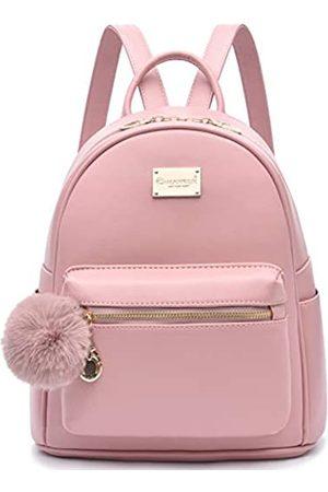 I IHAYNER Modischer Rucksack für Mädchen, niedlicher Leder-Rucksack, Mini-Rucksack für Frauen